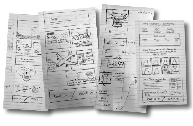 UE Website Sketches