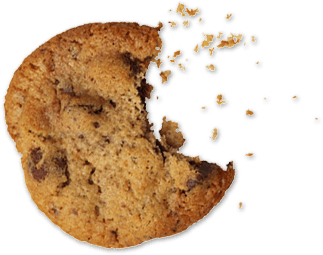 Cookie with a bite in it