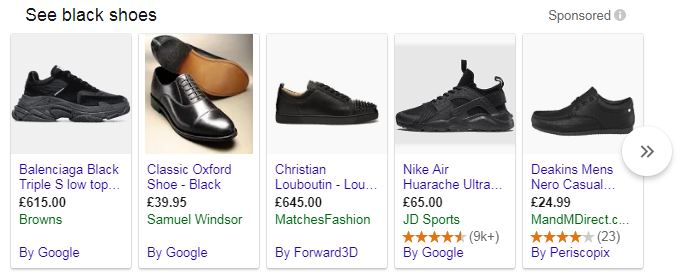 Serp for Black formal shoes
