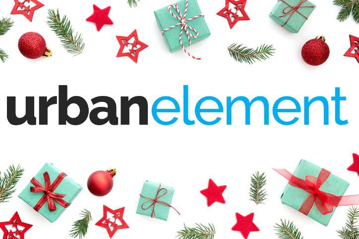 Urban Element with Christmas branding theme