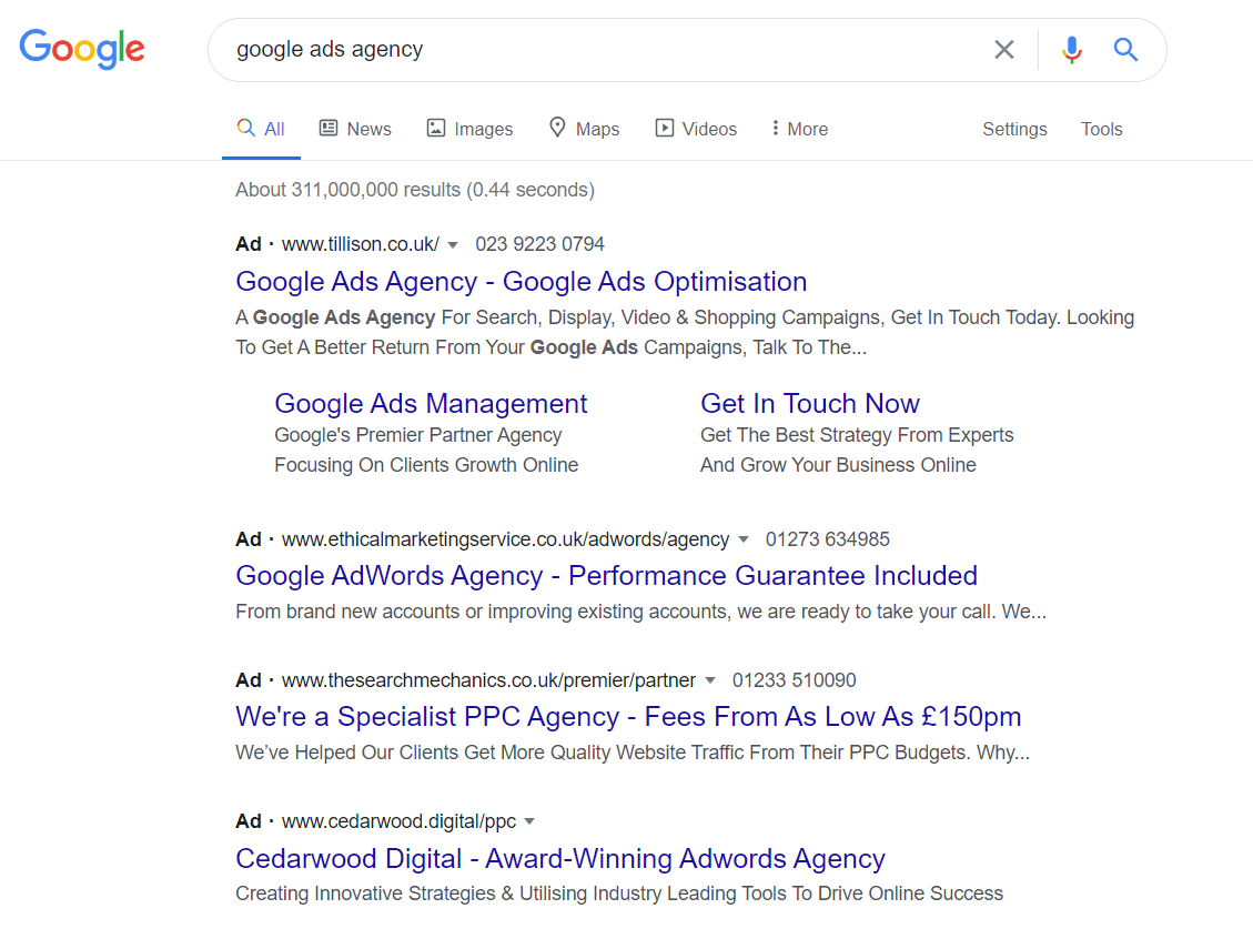 Google Ads in Google Search
