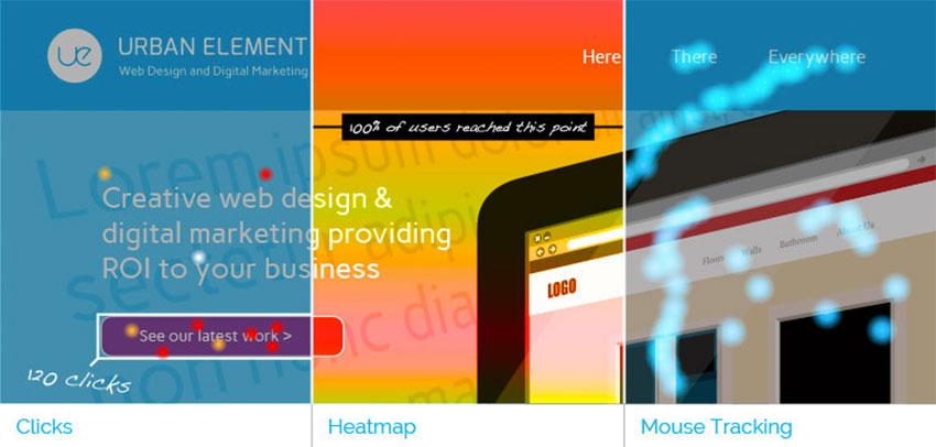Responsive Web Design - Heatmap of Urban Element Website home page banner