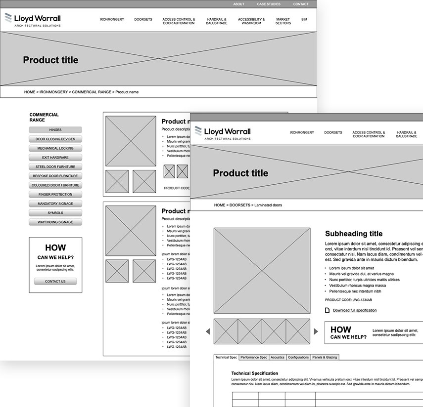 Wireframe for Lloyd Worrall